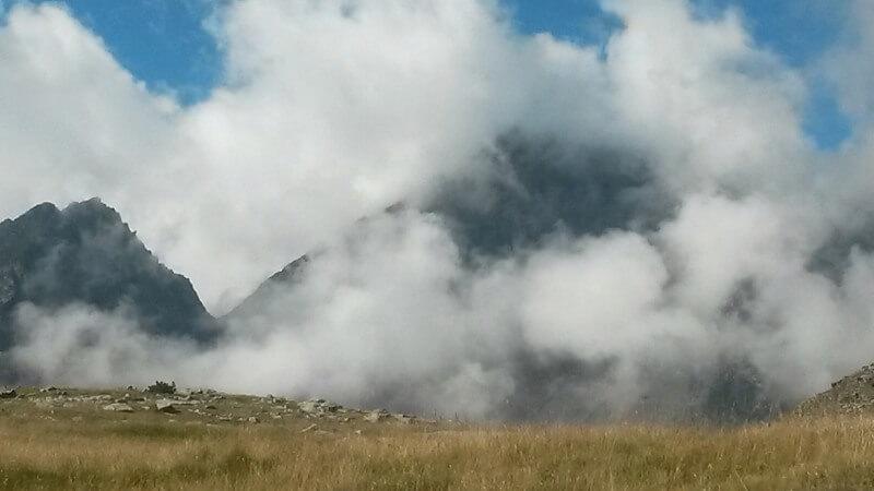 Nubes de evolución en el Pirineo francés